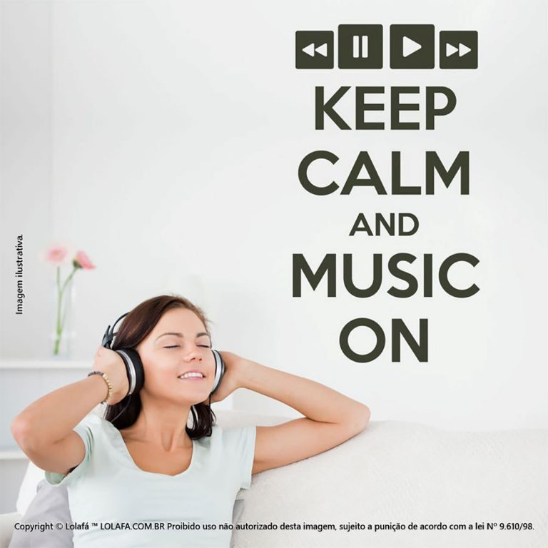 Adesivos Com Frases Keep Calm And Music Mod:68