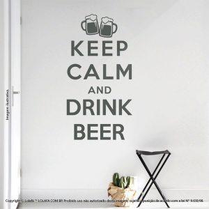 Adesivos De Parede Frases Keep Calm And Drink Mod:73