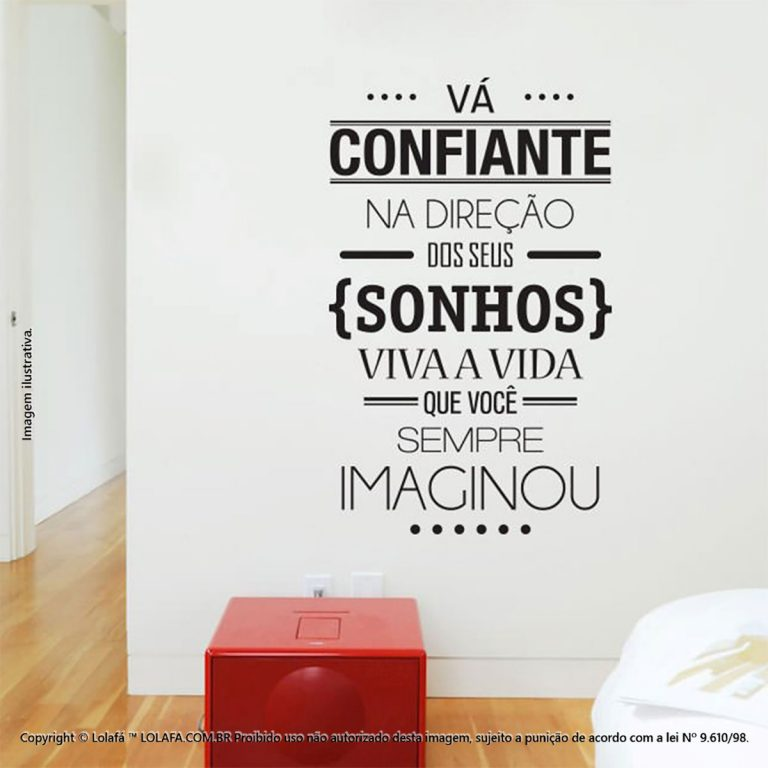 Adesivos Frases Vá Confiante Mod:74