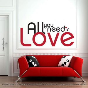 Frases Adesivos All You Need Is Love Mod:79