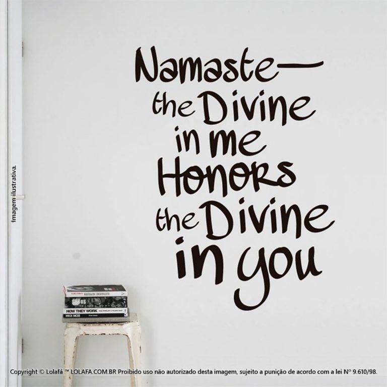 Frases Para Parede Namaste Mod:85