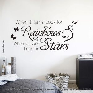 Adesivos Frases When It Rains, Look Mod:88