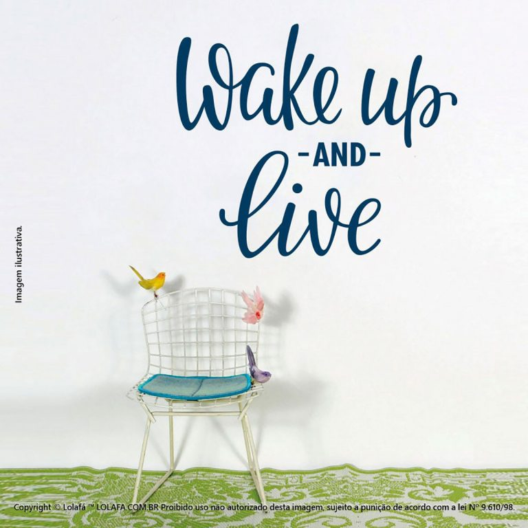 Adesivo Frases Para Parede Wake Up And Live Mod:105