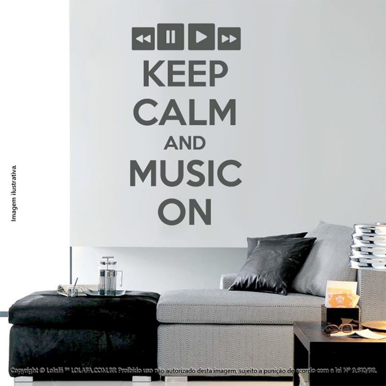 Adesivos Frases Keep Calm And Music Mod:172