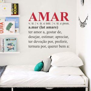 Adesivos De Parede Frases Amar Mod:185