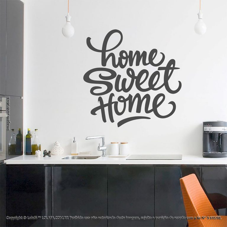 Frases Adesivo Parede Sweet Home Mod:202