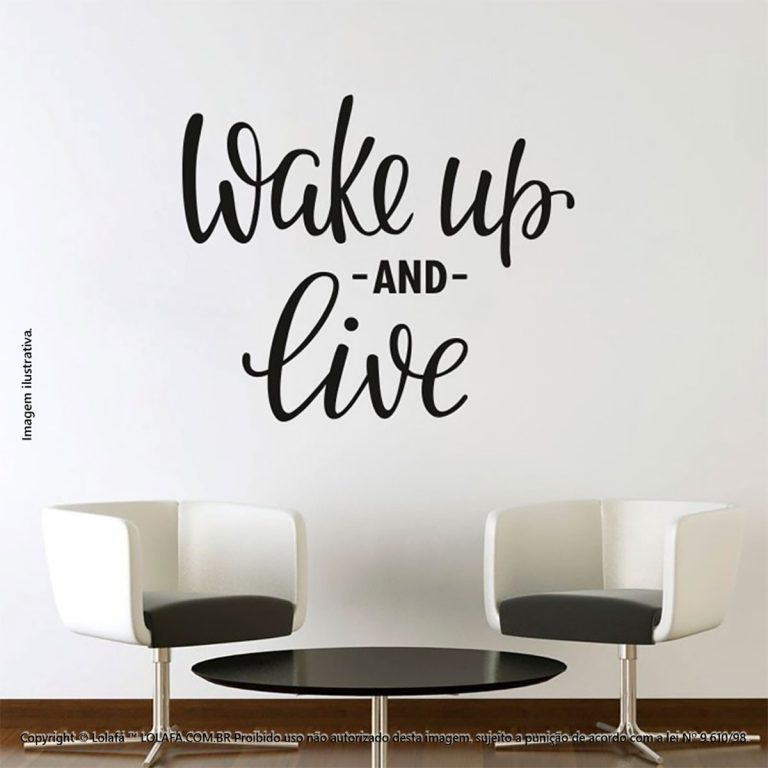 Adesivos Com Frases Wake Up And Live Mod:208