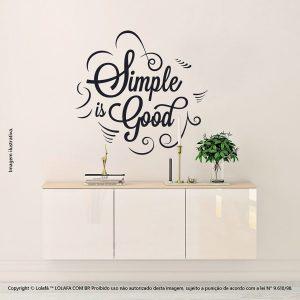 Adesivo De Parede Com Frases Simple Is Good Mod:209