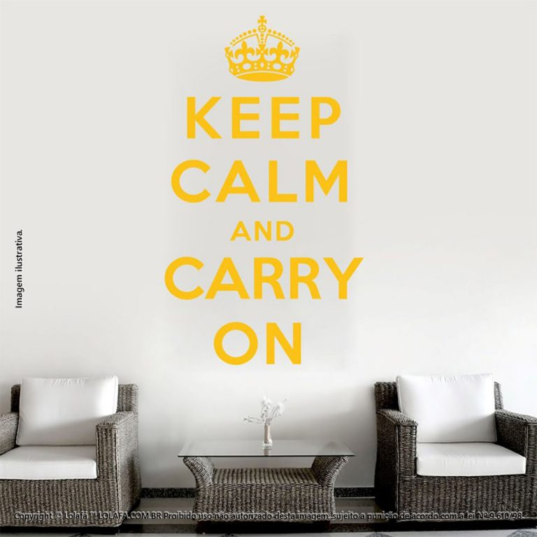 Frases Para Parede Keep Calm And Carry Mod:225