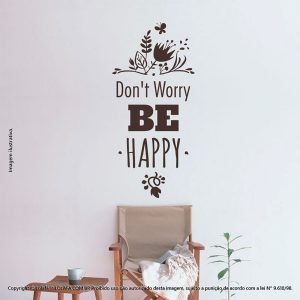 Frases Adesivo Parede Dont Worry Be Happy Mod:230