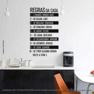 Frases Adesivos Regras Da Casa Mod:233