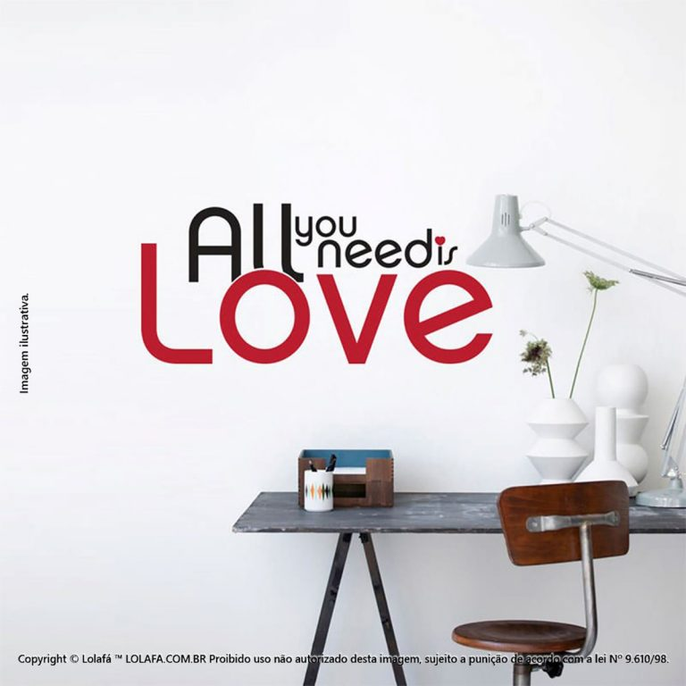 Adesivos De Parede Frases All You Need Is Love Mod:241