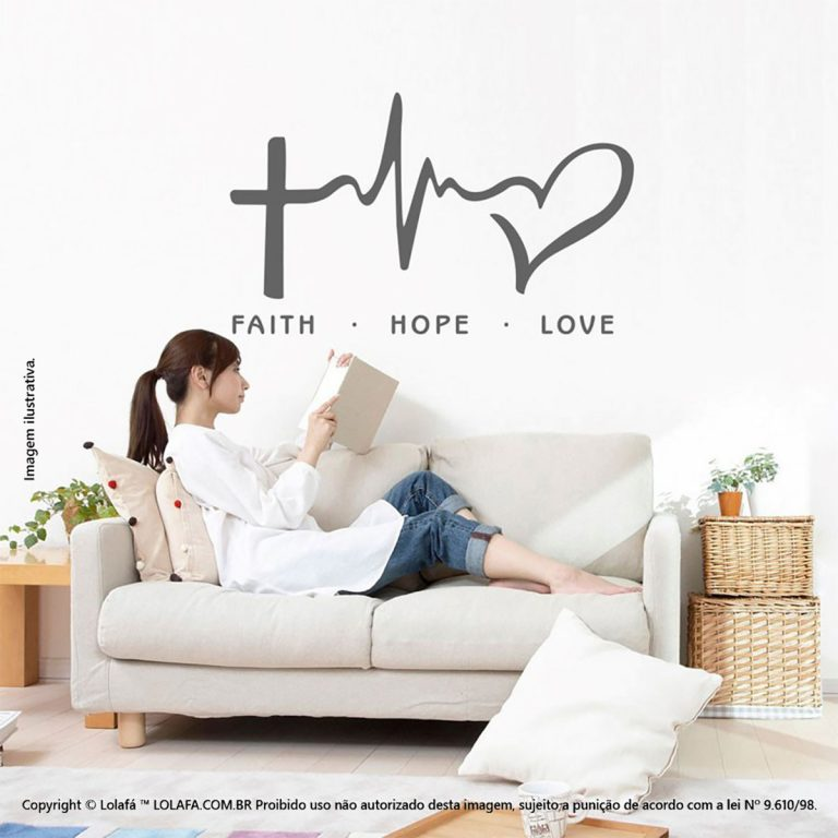 Frases De Adesivos Faith, Hope, Love Mod:249