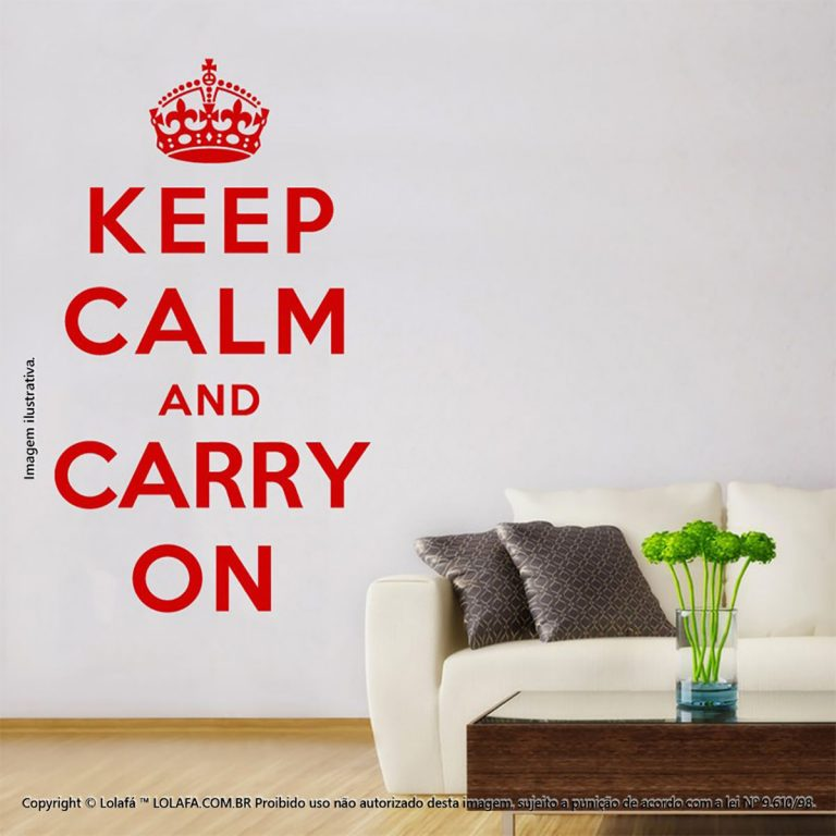 Adesivo Frases Keep Calm And Carry Mod:252
