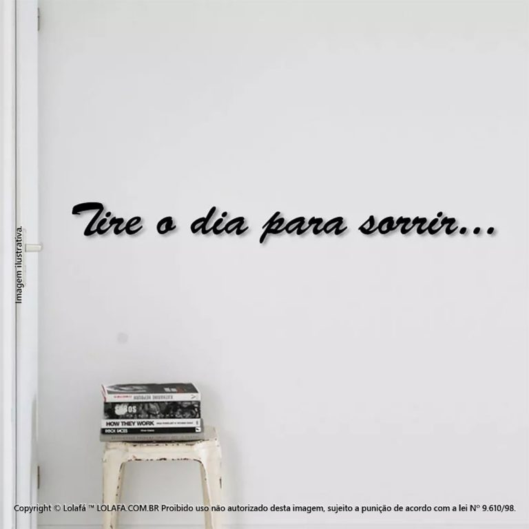 Adesivos De Parede Frases Tire O Dia Para Sorrir Mod:255