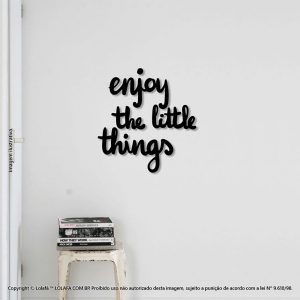 Adesivos Frases Enjoy The Little Things Mod:256