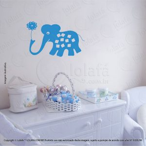 Adesivo De Parede Infantil Elefante Mod:21