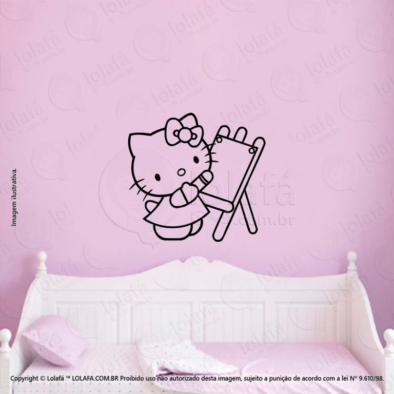 Adesivo Parede Infantil Hello Kitty Mod:28