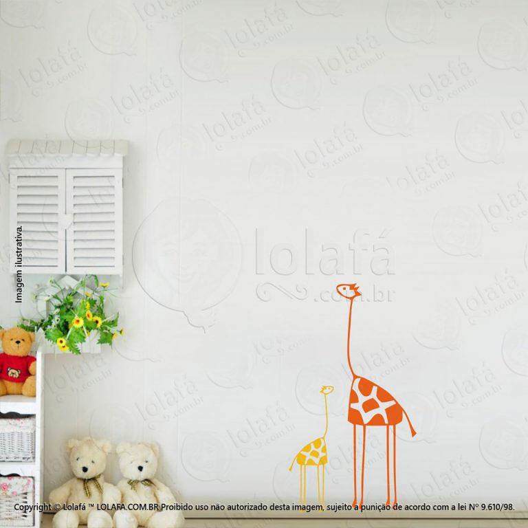 Adesivo Para Quarto Infantil Girafas Mod:60