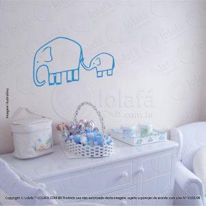 Adesivo De Parede Infantil Elefantes Mod:61