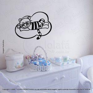 Adesivos De Paredes Infantil Gato Mod:64