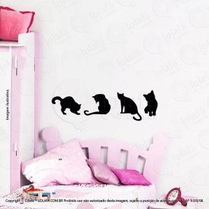 Adesivo Para Quarto Infantil Gatos Mod:100