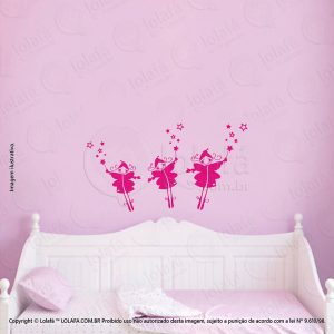Adesivos De Paredes Infantil Fadas Mod:104
