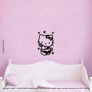 Adesivos Parede Infantil Hello Kitty Mod:129