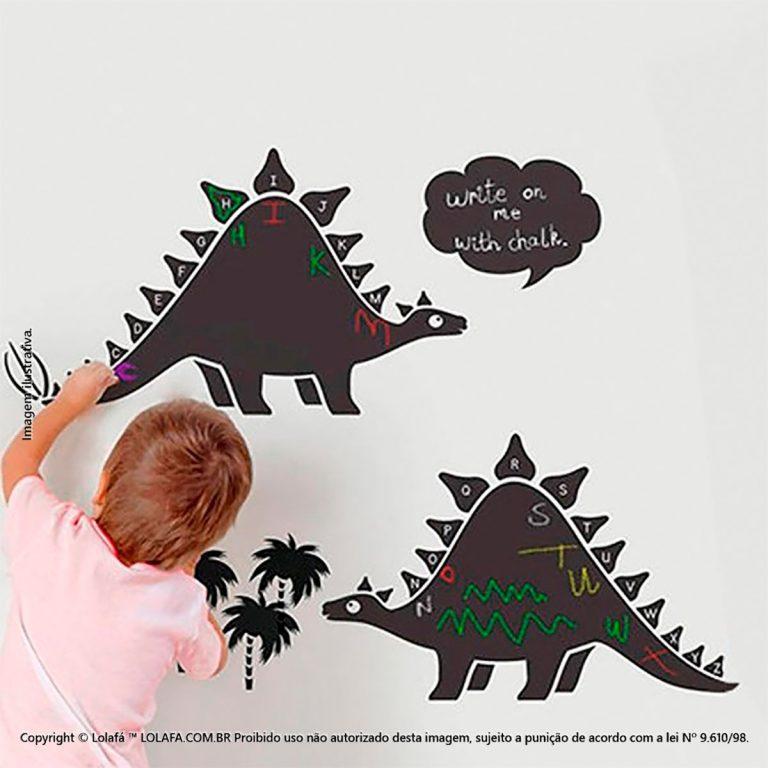 Adesivo Lousa Preta Infantil Dinossauros Mod:6