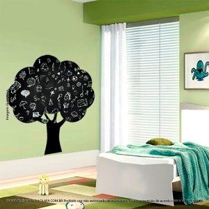 Adesivo De Lousa Preto Infantil Árvore Mod:7
