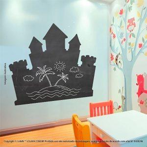 Quadro Adesivo De Parede Infantil Castelo Mod:11
