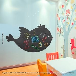 Adesivo Parede Lousa Infantil Pássaro Mod:14