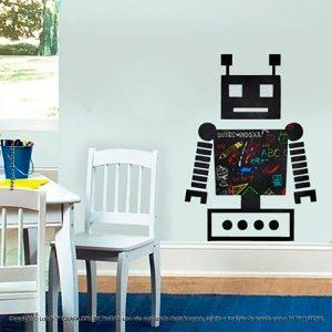 Adesivo Quadro Preto Infantil Robô Mod:15
