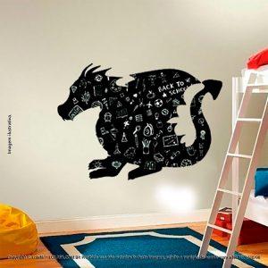 Adesivo De Quadro Negro Infantil Dragão Mod:25