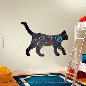 Quadro Adesivo De Parede Infantil Gato Mod:27