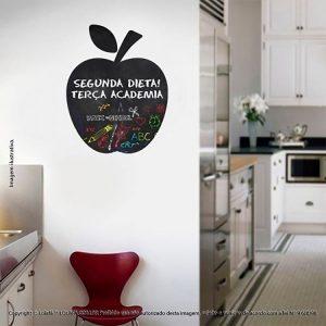 Adesivo Para Escrever Com Giz Cozinha Maçã Mod:29