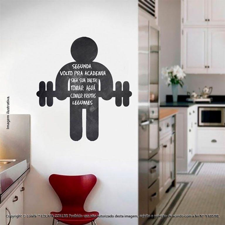 Adesivo Parede Lousa Cozinha Fitness Mod:30
