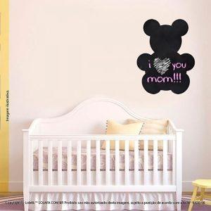 Adesivo Quadro Preto Infantil Urso Mod:31