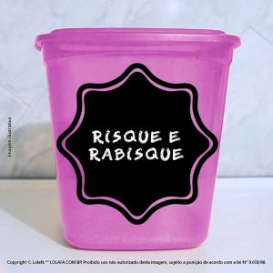Adesivo De Quadro Negro Cartela 04 Etiquetas 19x19cm Mod:57