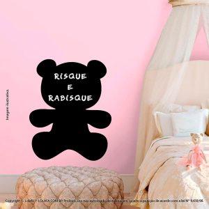 Adesivo Parede Lousa Infantil Urso Mod:62