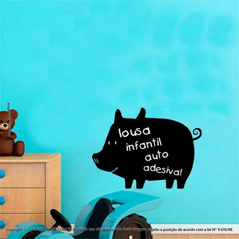Adesivo Lousa Negra Infantil Porco Mod:68