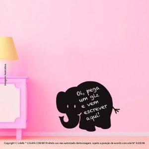 Adesivo Lousa Preta Infantil Elefante Mod:70