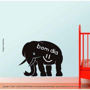 Quadro Adesivo De Parede Infantil Elefante Mod:75