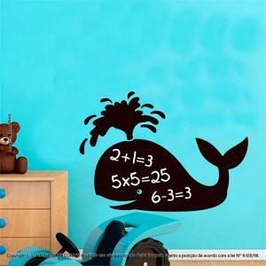 Adesivo De Lousa Infantil Baleia Mod:82
