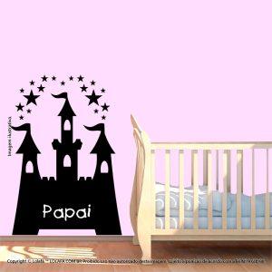 Adesivo Quadro Negro Infantil Castelo Mod:83