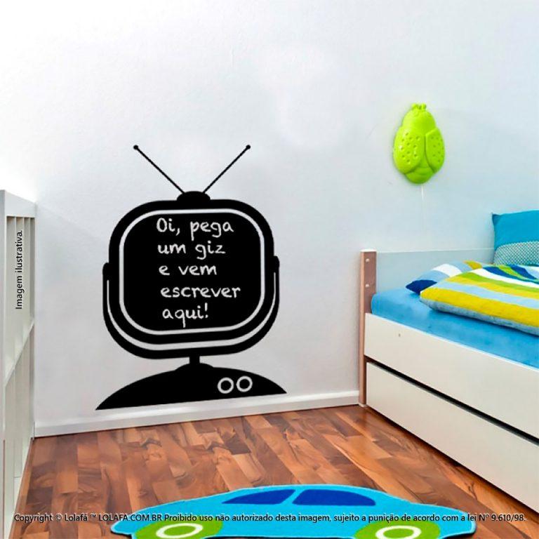 Adesivo Lousa Negra Infantil Televisão Mod:84