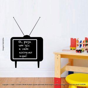 Adesivo Lousa Preta Infantil Televisão Mod:86