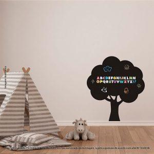 Adesivo De Lousa Para Parede Infantil Árvore Mod:96