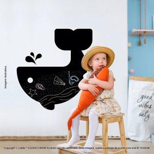 Adesivo Quadro Negro Infantil Baleia Mod:99