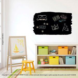 Adesivo Lousa Preta Quarto Painel Mod:102